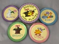 Mary Engelbreit  Set of 4 Unique Mini Easter Plates New in Box
