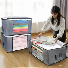 Large Clothes Storage Boxes Bags Ziped Organizer Wardrobe Cube Container Box