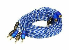 Rockville RTR124 12 Foot 4 Channel Twisted Pair RCA Cable Split Pin 100 Copper