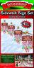 Christmas Santa's Workshop North Pole 4-Pc Sidewalk Yard Signs Decoration Set