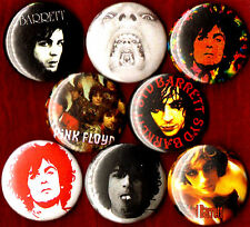 "SYD BARRETT 8 NEW 1"" buttons pins badges pink floyd shine on you crazy diamond"