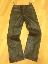 Bootcut Leather Mid Rise Trousers for Women