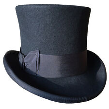"""18.0cm(7"""" ) Steampunk Top Hat Wool Fedoras Magic High Topper Hat All Colors"""