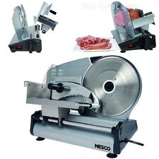 NESCO Electric Food Cheese Meat Slicer Cutter 8.7-Inch Blade Heavy Steel 180watt