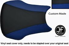 BLACK & ROYAL BLUE VINYL CUSTOM FITS HONDA CBR 600 RR3 RR4 03-04 SEAT COVER ONLY