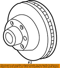 FORD OEM 07-12 F-250 Super Duty Rear Brake-Rotor 5U2Z1V125ME