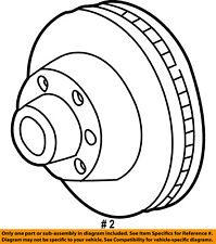 FORD OEM 99-07 F-350 Super Duty Rear Brake-Rotor YC3Z2C026BB