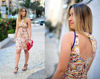 ZARA PAISLEY DRESS PENCIL SIZE SMALL