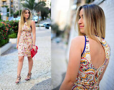 Zara Paisley Printed Wriggle Dress Size S Small Ref 2568 734