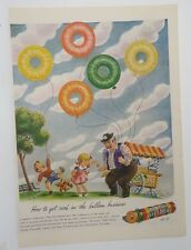Original Print Ad 1944 LIFE SAVERsS How to Get Rich in the Balloon Business