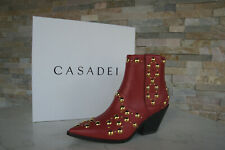 CASADEI  40 Stiefeletten Cowboy Ankle Boots Schuhe rot chilli neu ehem UVP 780 €