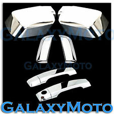 Chrome Mirror+4 Door+Rear Handle W/O PSG Keyhole Cover for 04-13 Nissan Armada