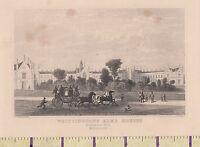 C1840 Victoriano Estampado ~Londres~ Whittingtons Limosna Casa ~ Highgate