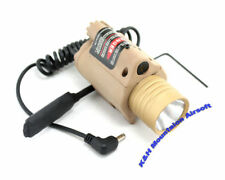 M6 Style Flashlight /w Laser and Remote Pressure Switch / TAN (KHM Airsoft)