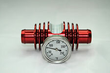 Super Cooler Temperature Gauge Red Anodized YFZ450 TRX450 Banshee Raptor