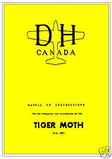 DE HAVILLAND DH-82 TIGER MOTH - 6 INTERESTING MANUALS