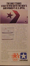 1983 Chris Evert~Jimmy Connors U.S Open Tennis Star Converse Leather Shoes Ad