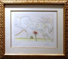 "Salvador Dali ""Le Cheval Et Le Loup"" Engraving Hand Signed by Dali L@@K! OBO!"