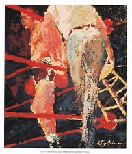 """LEROY NEIMAN BOOK PRINT """"LAST BELL FOR JOE LOUIS"""" CHAMPION BOXER FOR THE AGES"""