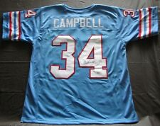 RARE EARL CAMPBELL AUTOGRAPH SIGNED JERSEY WITH COA FROM JSA HOUSTON OILERS