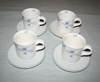 Pfaltzgraff April Cups And Saucers Set Of 4 / Embossed Cup Bottoms