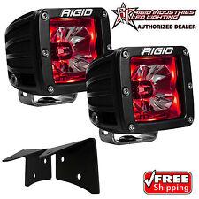 Rigid Radiance A-Pillar LED Lights w/ Red Backlight for 07-17 Jeep Wrangler JK