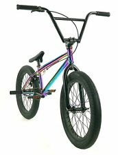 "Elite BMX 20"" Bike Destro Freestyle Oil Slick Neo Chrome 3pc Crank"