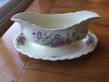 Vintage Crown Ducal Wilmslow Double Spouted One Piece Gravy/Sauce Boat