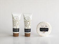 Leaves Mini Hotel Amenity 3 Piece Set, Shampoo, Conditioner & Soap