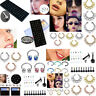 Fake Septum Nose Ring Lip Earring Body Piercing Studs Stainless Steel Jewelry