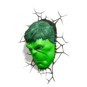 Hulk Face 3D Deco Light Hulk Head Wall Night LED Lamp for Kids Avengers
