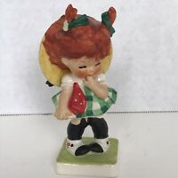 Vintage 1957 ORIGINAL Hummel Goebel Charlot BYI #4 Red Head Girl Little Miss Coy