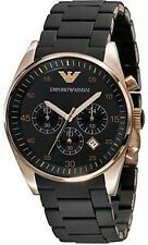 Emporio Armani AR5905 Black Sportivo Smart Chronograph Wrist Watch For Men's Wit