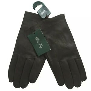 Mens Wolsey Leather Gloves Brown XL