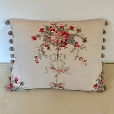 """NEW Kate Forman Isobella Fabric 17""""x13"""" Pom Pom or Piped Cushion Cover"""