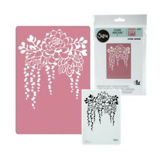 Sizzix embossing folders Elegant Succulents 661934 flowers leaves border