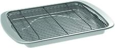 Oven Crisp Bacon Pan Aluminum Nonstick Coated Steel Rack Jerky Veggies Kitchen