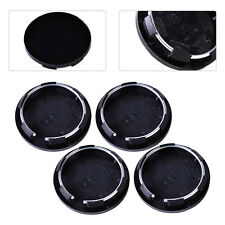 4pcs Black 50mm Auto Hub Cap Car Hood Wheel Rim Center Tyre  Mounted Cover Trim