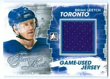 """BRIAN LEETCH """"BLUE GAME USED JERSEY CARD"""" ITG FOREVER RIVALS"""