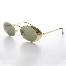 Side Shield Steampunk Goggle Sunglasses Vintage Gold-Orson