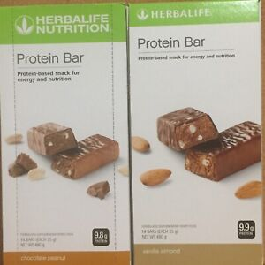 Herbalife Protein Bars X2 Boxes Choose Any Flavours Citrus &  Peanut & Vanilla