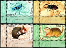 MOLDOVA 2019-07 FAUNA: Protected Insects and Rodents. Lower CORNER, MNH