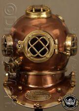 "Antique 18"" Diving Helmet US Navy Mark V Deep Sca Vintage Divers Helmet Replica"