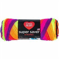 Red Heart E300.4970 Super Saver Yarn 5 Ounces Bright Stripe