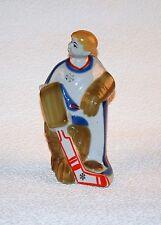 Russische Porzellanfigur Torwart Hockeyspieler Porzellan UdSSR Hockey