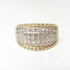 Mens Estate 14K Yellow, White Gold Single, Brilliant Cut Diamond Ring 0.75 Cts