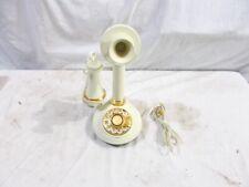 1970's Candlestick Plastic - White Telephone