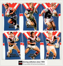 2006 Select NRL Invincible Trading Cards Jersey Die Cut Team Set Roosters (6)