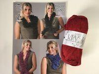 krystal glitter specialist scarf yarn from king Cole  1x 100g ball with pattern