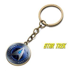 Star Trek Federation Logo BRZ keychain Collectible gift Spock kirk picard bones